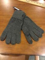 Polo Ralph Lauren Cotton Wool Touch Screen Gloves Men's One Size Grey