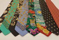 Versace Vintage Pre Death Animal Print Tie Collection RARE Leopard SILK MEDUSA