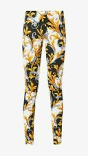 VERSACE Baroque print stretch woven mid-rise leggings UK 8