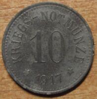 Germany Notgeld (Token) Cham 10 pfennig 1917