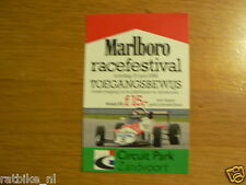 FLYER MARLBORO RACE-FESTIVAL 1988 CIRCUIT ZANDVOORT
