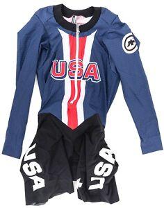 Assos Team USA Long Sleeve Speedfire Skinsuit Men MEDIUM NoPinz Road Track Race