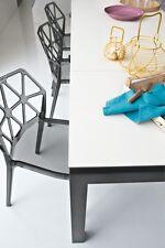 Calligaris Connubia Tisch Airport 4011 Gestell grau Tischplatte Keramik weiß