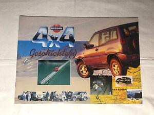 Prospekt Reklame Werbung Nissan 4x4 Geschichte Geschenk Broschüre Heft Rarität