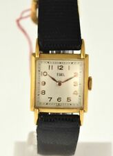Ebel - Square - Meccanico - 1960  - Gold Plated - NOS