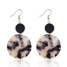 Boho Geometric Women Acrylic Round Dangle Drop Hook Ear Stud Earrings Jewelry