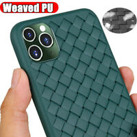 2019 Mid-Night Green Armor Case for iPhone 11 Pro Max Rugged PU Weave Soft Cover