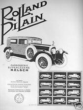 PUBLICITÉ 1927 ROLLAND PILAIN CARROSSERIE SUPERLEGÈRE KELSCH - ADVERTISING