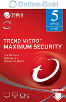 Trend Micro Maximum Security 2020 - 5 Geräte 2 Jahre (5 Nutzer) - Download Code