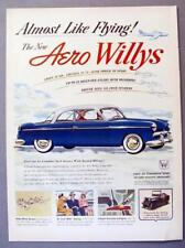 Original 1953 Willys Aero Coupe Ad ALMOST LIKE FLYING GET AIRBOURNE RIDE