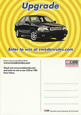 VOLVO CARS SWEDEN RULES COMPETITION ADVERTISING UNUSED COLOUR POSTCARD