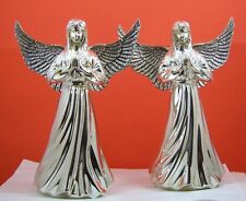 Silver Plated Angel Candle Holders A Pair International Silver Company