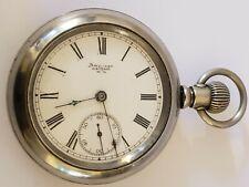 Antique Working 1883 WALTHAM Victorian 15J Gents 18s Silver RR Pocket Watch