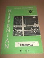 HIBERNIAN V MOTHERWELL SCOTTISH LEAGUE FOOTBALL PROGRAMME 1969 / 1970