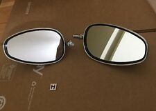 Pair Oval Chrome Motorcycle Rear View Side Mirror 10mm for Honda Suzuki Kawasaki