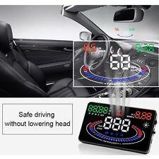 """E300 5.5"""" 2D Car OBD2 HUD Head Up Display MPH/KMH Speedometer Speed/TEMP Alarm"""