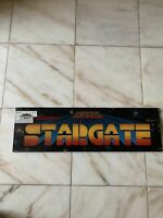 Original Star Gate Defender Williams 24 3/8-7.5'' Plexi arcade game sign marquee