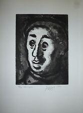 Mario Avati gravure originale 1950 signée numérotée Art Abstrait