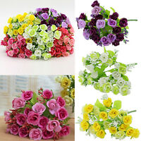 1 Bouquet 21 Head Gorgeous Artifical Rose Wedding Party Home Decor Silk Flower