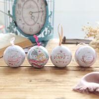 Fj- LN _ Cn_12Pcs Natale Decorazione Caramelle Scatola Trasparente Palline Ornam