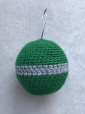 HANDMADE CROCHET BAUBLE CHRISTMAS DECORATION KNITTED HARRY POTTER SLYTHERIN