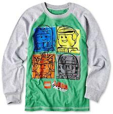 Lego Movie Long-Sleeve Green T-Shirt Emmet Bad Cop - Boys XL 14/16 - New w/Tags!