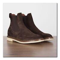 LORO PIANA 1625$ Winter Beatle Walk In Chocolate Brown Suede Calfskin
