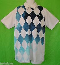 RARE~Puma Golf Performance DUO SWING DIAMOND Polo RICKIE FOWLER TOUR Shirt~Men M