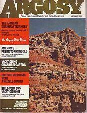 Argosy Magazine January 1973 Bermuda Triangle in Africa New Hampshire Ruins