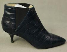 HOBBS London Ladies Blue Mock Croc Mid Heel ANKLE BOOTS - Size EU 39 - UK 6