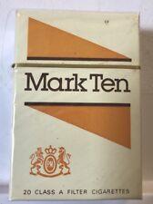 Vintage MARK TEN ~ Collectible Cigarette Hard Pack (empty)