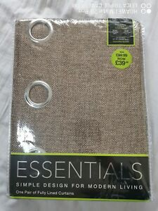 Curtains, Lined, Eyelet, Textured Woven NEW Beautiful.
