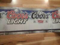 New 50' Coors Light Original Beer Banner Bat Sign Advertisement