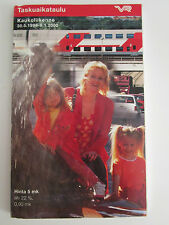 FINLAND Train Timetable VR Railways 1999 Fahrplan Horaire Aikataulut Tidtabeller