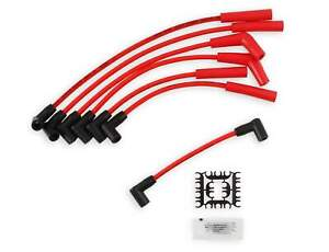 Spark Plug Wire Set - Super Stock Spiral Core 8mm - Jeep L6 - Red - 5129R