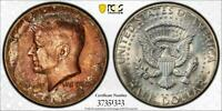 1969-D TONED KENNEDY HALF DOLLAR SILVER COIN GRADED PCGS MS65