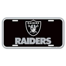 """OAKLAND RAIDERS 6""""x12"""" OFFICIAL LOGO LICENSE PLATE CAR BRAND NEW WINCRAFT"""