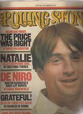 ROLLING STONE magazine #241 ROBERT DE NIRO  Grateful Dead  Natalie Cole