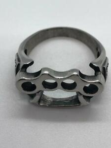 Brass Knuckles Stainless Steel Ring 96