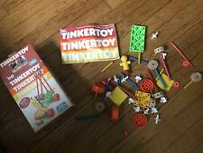 Vintage Tinkertoy #110 Set 55 Pieces With Instructions