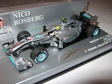 1:43 Mercedes GP W01 N. Rosberg 1. Podium Malaysian 2010 41010104 Minichamps new