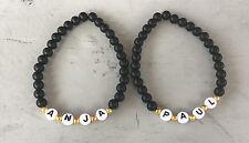 2x DIY Pulsera Brazalete de socios perlas pulsera con nombre deseado personalizada (2)