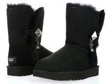 Ugg's Women's Lilou Swarovski Black Sheepskin Leather Winter Boots Sz. 6 233985
