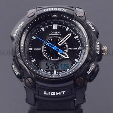 Military Black Sport Quartz OHSEN Analog Digital Mens Rubber Wrist Diving Watch