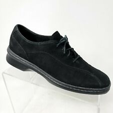Clarks Springers black womens suede lace up sneakers shoes sizs 8.5 N Narrow