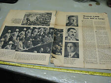 WANTED 1,000 NAZIS  STILL   AT  LARGE MAG. ARTICLE FEB 28 , 1965