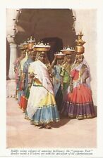 INDIA INDIAN WOMEN TRADITIONAL  DRESS HEADGEAR c 1920 BOOK ILLUSTRATION PRINT