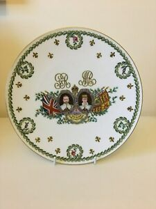 Copeland China Cabinet Plate Commemorating the 1911 Coronation of King GeorgeV