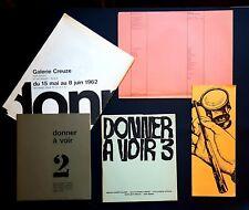 DONNER A VOIR  Collection complète N°1 à 4 RARE ensemble Revue