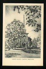 Maryland MD postcard Easton, Christ Church Artist Signed John Moll